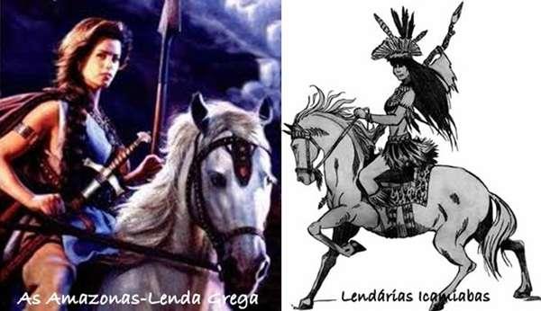 Guerreiras Gregas e Guerreiras Indígenas