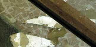 Parte do teto de uma loja no Shopping Manauara desabou