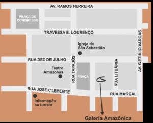 Galeria Amazônica Rua Costa Azevedo, 272 – Térreo Largo do Teatro – Centro Manaus – AM – Brasil 69.010-230 telefone (92)3233.4521 www.galeriamazonica.org.br