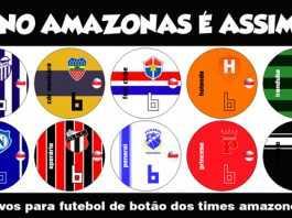 Adesivos para futebol de botão dos times amazonenses