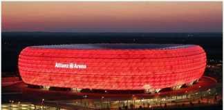 Allianz Arena em Munique - ALE e Arena da Amazônia em Manaus - BRA