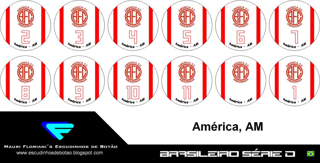 Escudo de botão do clube América -AM