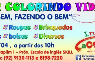 Bazar colorindo vidas