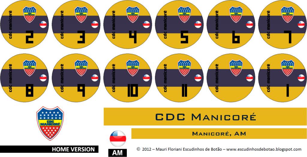 Escudo de botão do clube CDC - Manicoré