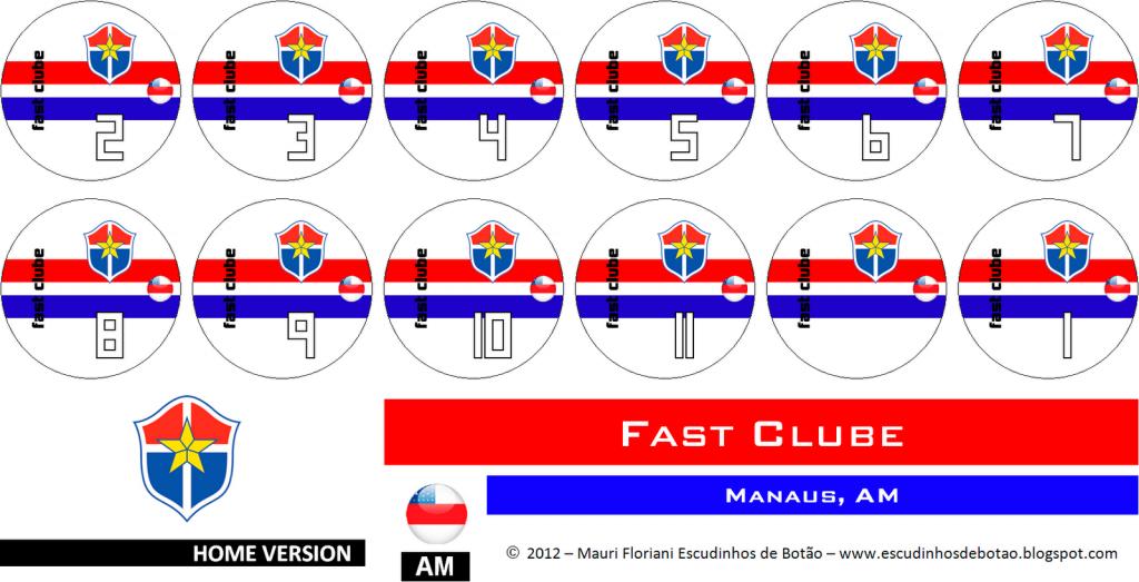 Escudo de botão do clube Fast-Clube