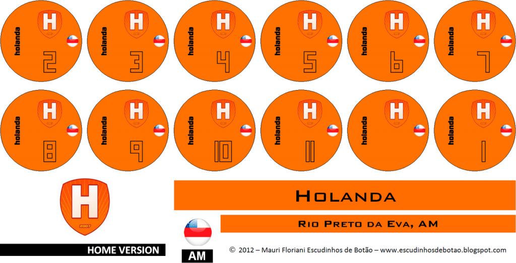 Escudo de botão do clube Holanda