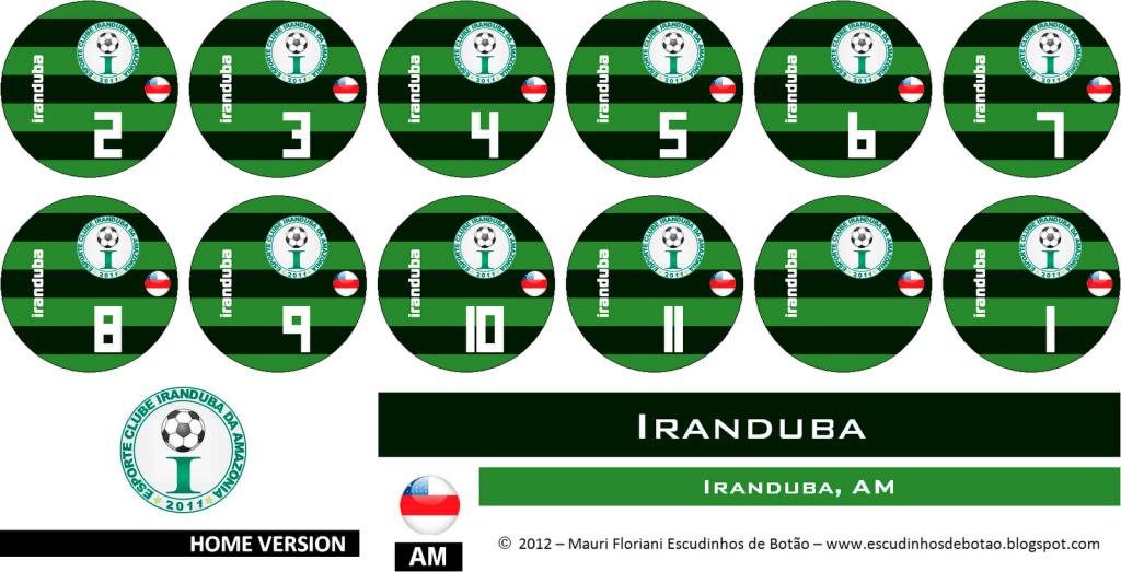 Escudo de botão do clube Iranduba