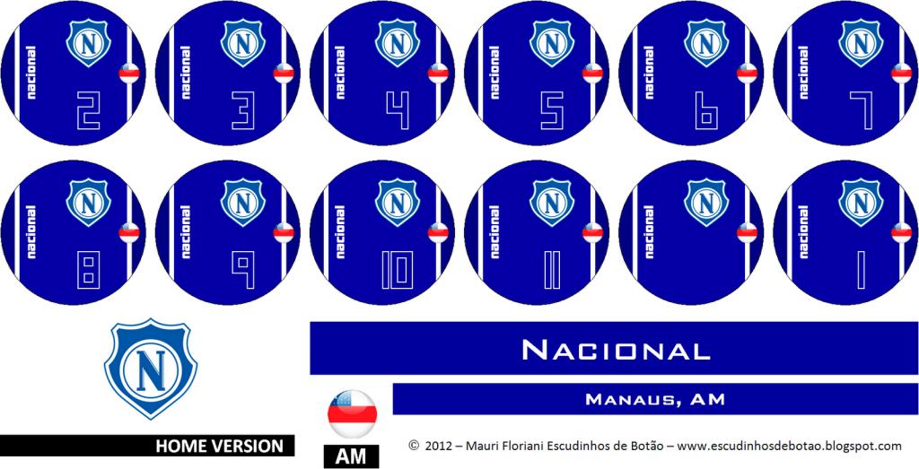 Escudo de botão do clube Nacional