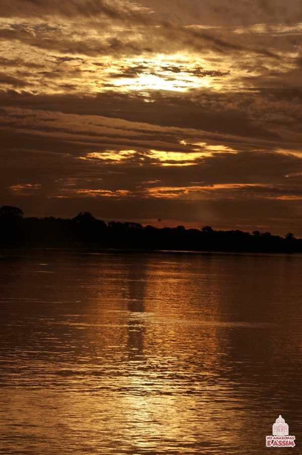 Pôr do Sol no Amazonas no Alto Solimões