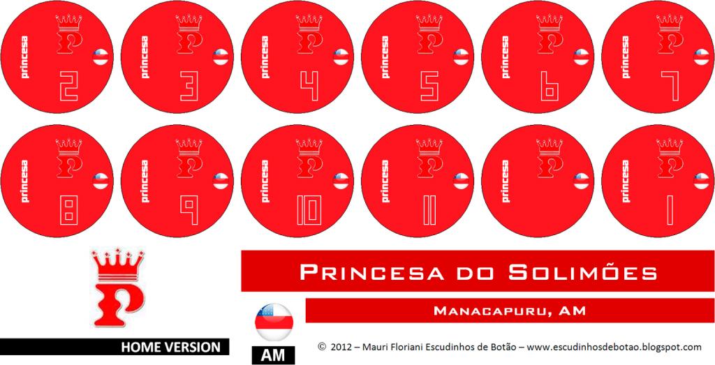 Escudo de botão do clube Princesa do Solimões