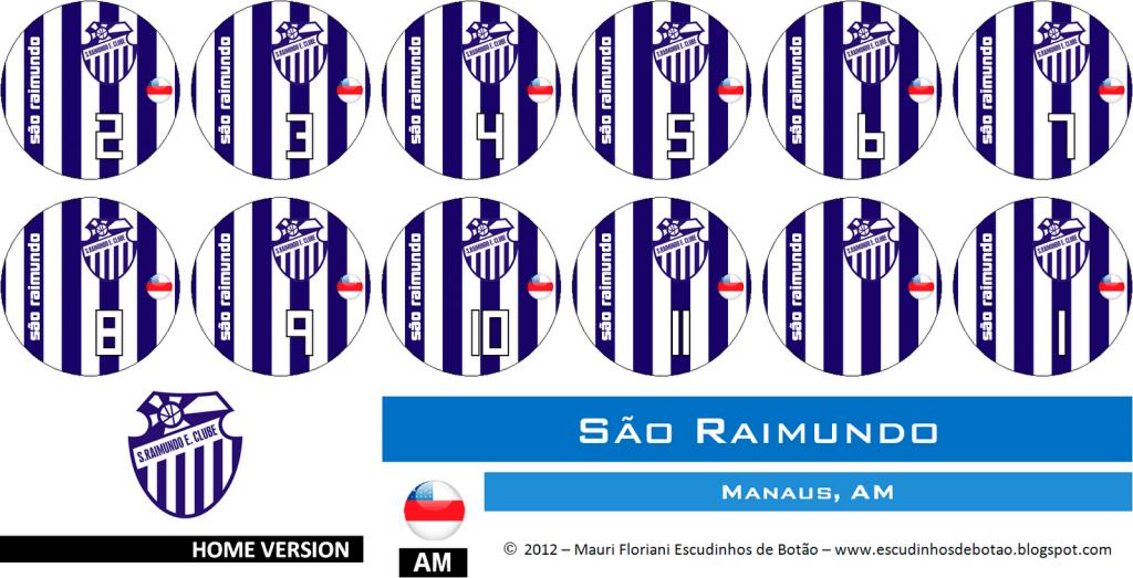 Escudo de botão do clube São Raimundo