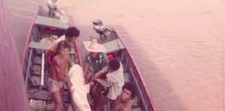 Tubarão capturado no Paraná da Eva, na década de 70