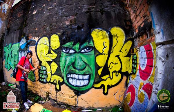 Grafite em Manaus Blur - Hulk
