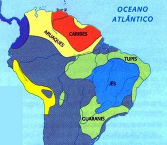 Mapa 1 Indígenas antes da chegada dos Europeus