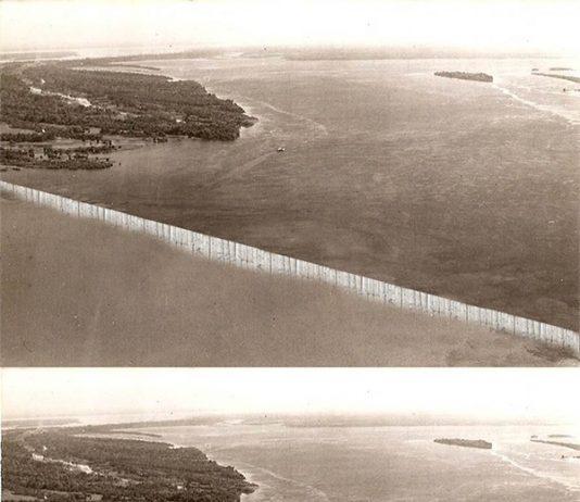 Encontro das Águas - Ripas foram usadas para dividir as terras e o rio