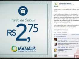 Manaus venceu! A partir de julho passagem volta pra R$2,75