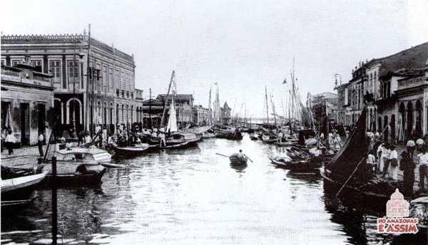 Antigo Igarapé das Almas, no Reduto Antigo, Belém