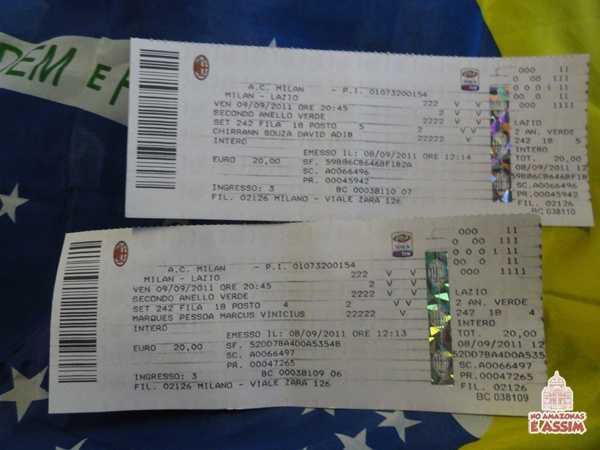 Ingressos pro San Siro, jogo entre Milan x Lazio