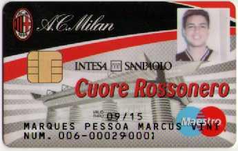 Cartão - Cuore Rossonero (AC Milan)