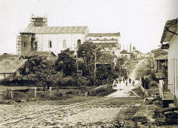 Foto de Manaus, capital da província em 1865