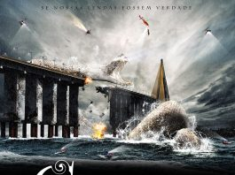 Cartaz de filme com a lenda amazônica da Cobra Grande
