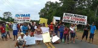 Manifestação na AM 070