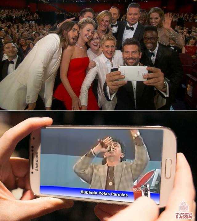 A Selfie do Oscar era uma farsa