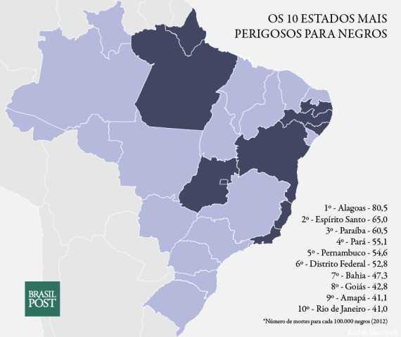 Os 10 piores estados do Brasil para ser negro