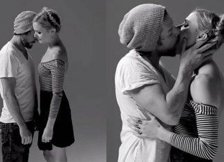Vídeo mostra reações de pessoas beijando desconhecidos / Reprodução Youtube