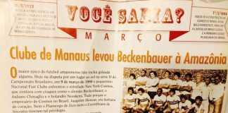 Clube de Manaus levou Beckenbauer à Amazônia