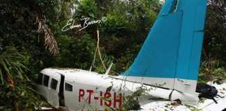 Felizmente não houve Vitimas! Apenas Piloto e Co-Piloto com pequenos Ferimentos! o Piloto foi extremamente Habilidoso! Foto: Edmar Barros/Futura Press