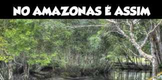 Corredeira na Cachoeira da Porteira em Presidente Figueiredo