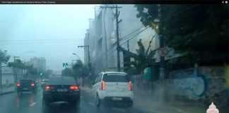 Vídeo flagra desabamento em frente ao Manaus Plaza Shopping
