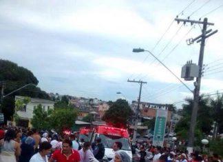 Acidente que aconteceu no Dom Pedro teve várias vítimas devido estarem reunidas para evento religioso. Foto : Flávio Farias