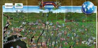 Mapa Turístico de Manaus