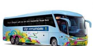 Fifa e Hyundai apresentam frases para ônibus de seleções