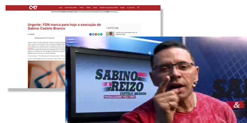 FDN marca para hoje a execução de Sabino Castelo Branco