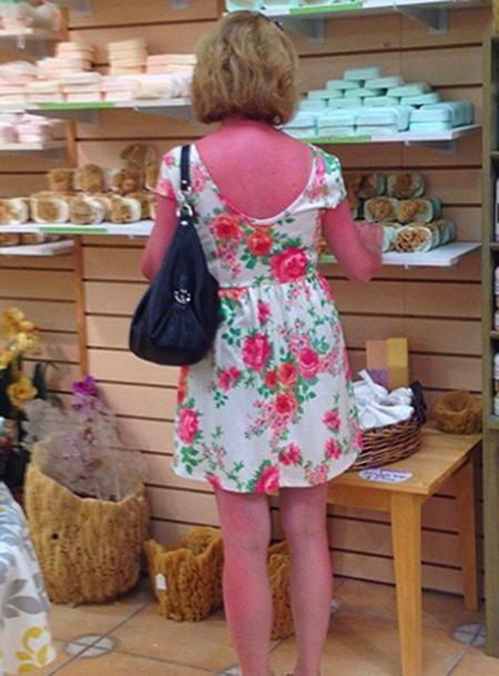 Essa gringa foi vista lá no Empórium Roma fazendo compras