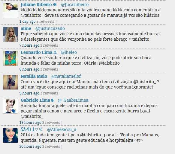 Taís Brito é hostilizada no Twitter