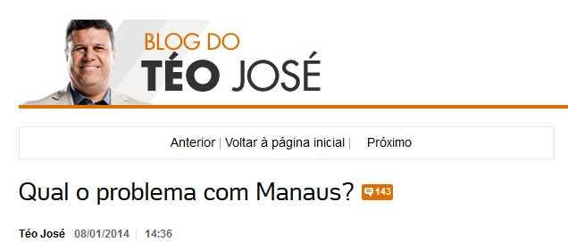Qual o problema com Manaus?