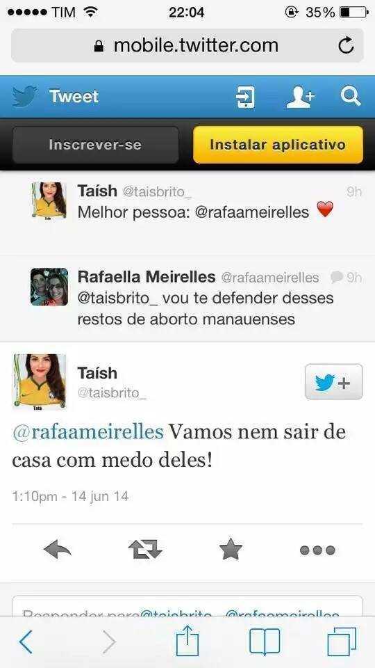 """Raffaela Meirelles chama os manauenses de """"restos de aborto""""."""