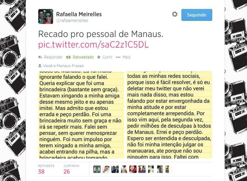 Recado pro pessoal de Manaus. pic.twitter.com/saC2z1C5DL