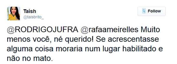 Sobre pressão, ela reage dizendo que Manaus é só mato.