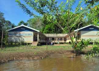 Escola Municipal Professora Francisca Góes dos Santos, situada na Comunidade São Francisco, Costa de Terra Nova em Careiro da Várzea.