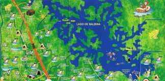 Mapa das Cachoeiras do Amazonas
