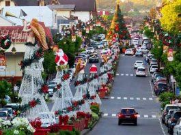 Decoração de natal na cidade de Manaus