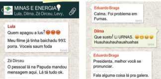 Conversa entre Lula, Zé Dirceu, Dilma, Eduardo Braga e Levy, conversam sobre o apagão.