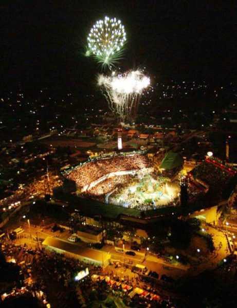 Festival Folclórico de Parintins - Vista aérea do Bumbódromo