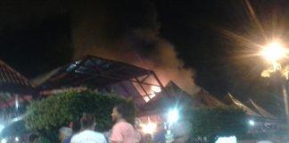 Incêndio avassalador na Praça de Alimentação do Dom Pedro