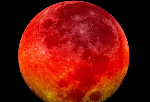 Ela está de volta, a Lua sangrenta em Setembro